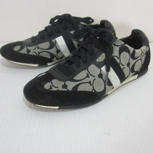 Coach Joss Black Logo Fashion Sneakers 8.5